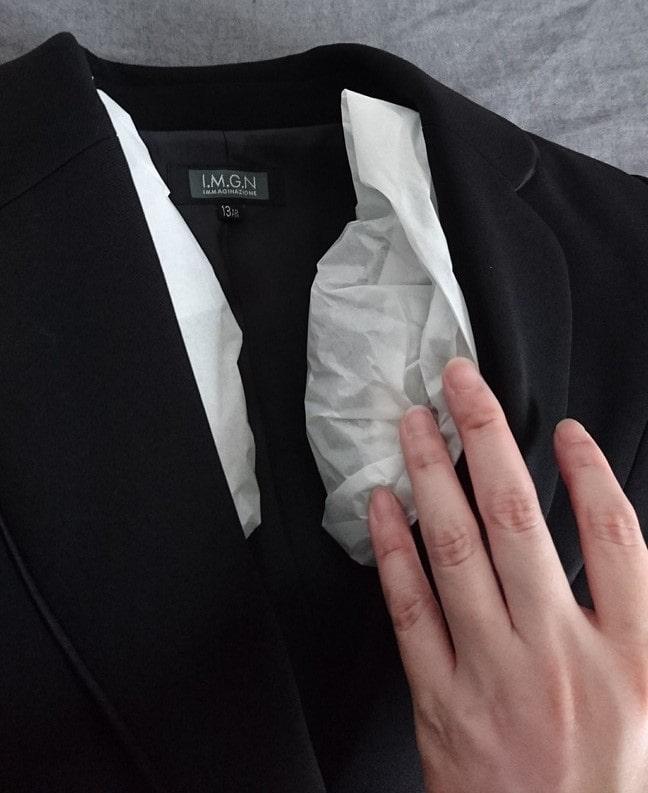 キレイナにクリーニングに出して戻ってきた礼服(ジャケット)