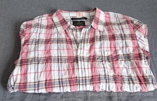 キレイナにクリーニングに出して戻ってきたシャツ