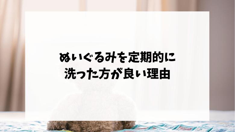 ぬいぐるみを定期的に洗った方が良い理由