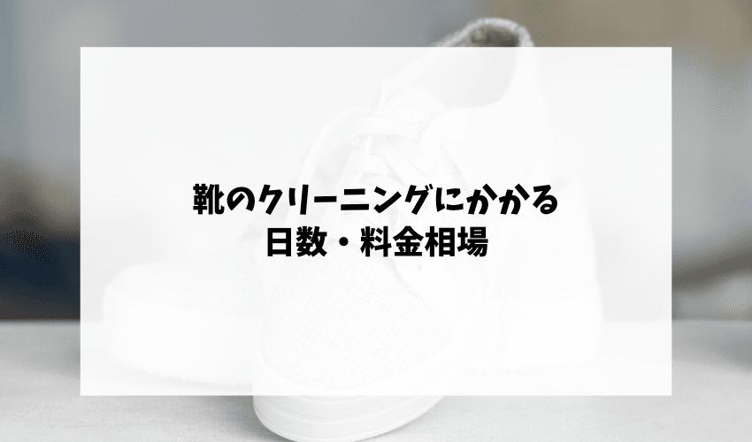 靴のクリーニングにかかる日数・料金相場