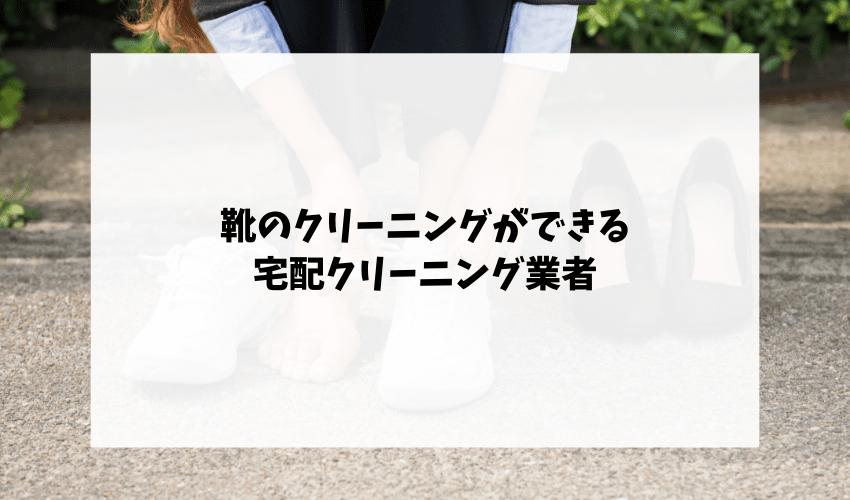 靴のクリーニングができる宅配クリーニング業者
