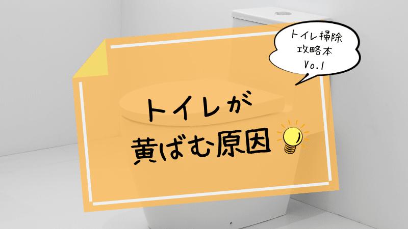 トイレが黄ばむ原因